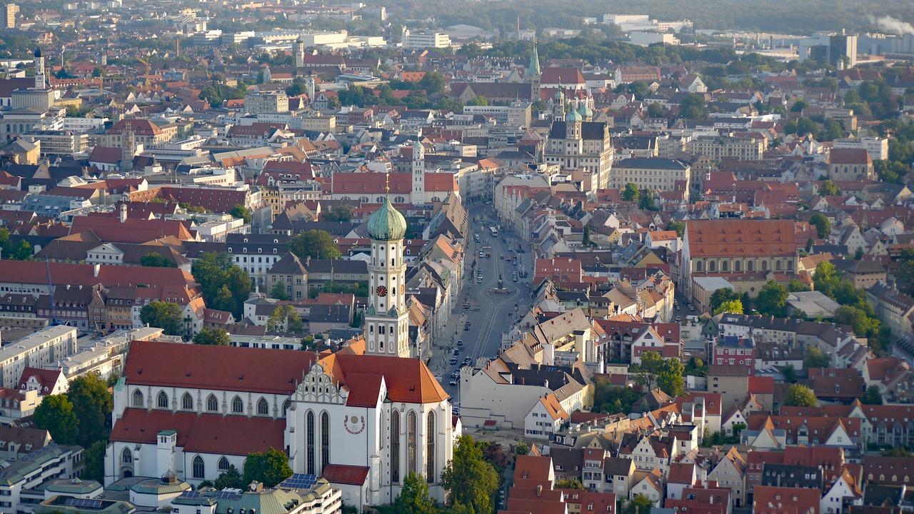 Augsburg an der Romantische Strasse